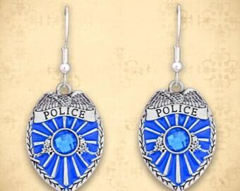 Police Badge Earrings