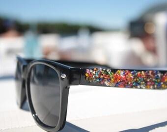 Wayfarer Rainbow Beaded Sunglasses