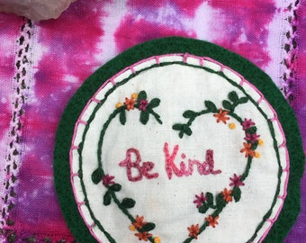 Embroidered Be Kind Patch