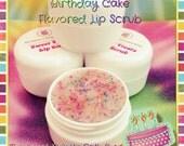 Birthday Cake Flavored Lip Scrub