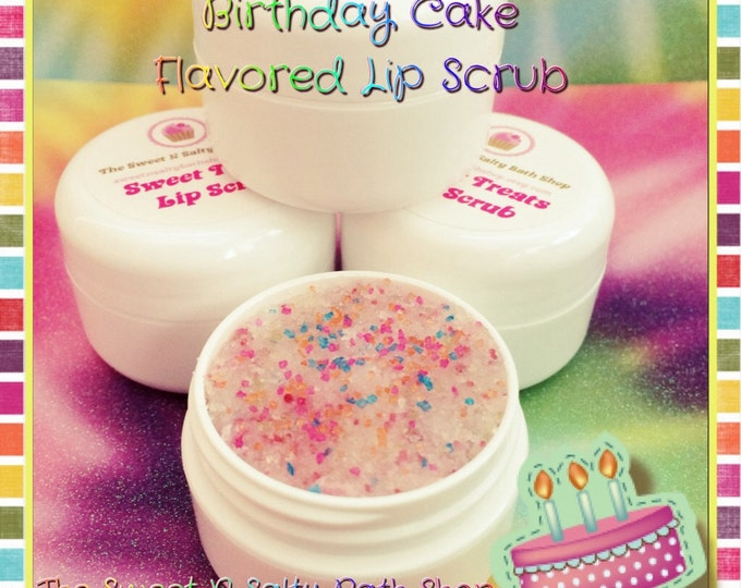 Birthday Cake Flavored Lip Scrub