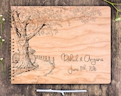 Rustic Wedding Guest Book, Rustic Guest Book, Oak Tree Wedding, Garden Wedding, Rustic Guestbook, Oak Tree Guest Book, Wooden Guest Book