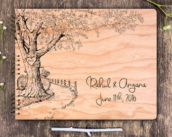 Rustic Wedding Guest Book, Rustic Guest Book, Oak Tree Wedding, Garden Wedding, Rustic Guestbook, Oak Tree Guest Book, Wooden Guest Book
