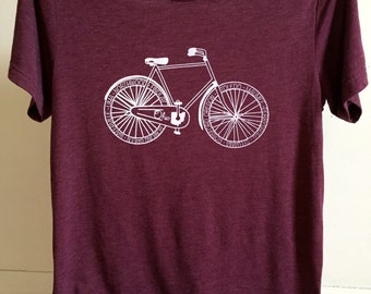 Ohio Bicycle Maroon T-shirt
