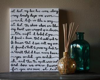 At Last - Etta James Lyric Painting 11x14