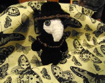 Crochet Plague Doctor Amigurumi