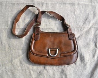 Leather bag, vintage leather bag, old leather bag, brown leather bag, satchel bag, old leather purse, leather purse, vintage leather purse