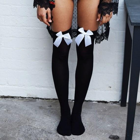 sale chiyo cherries black thigh high stockings plus size