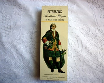 Paterson's Shortbread Tin, vintage Cookie Tin, Vintage Paterson's tin, Tin Cookie box