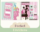 4 Dividers for filofax POCKET- Printable -