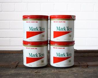 Mark Ten Tobacco Tins - 200g - Canadian Imperal Tobacco - Vintage Tins