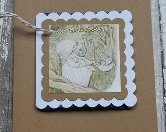 Beatrix Potter Get Well Soon Teabag Card