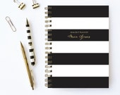 Weekly Planner | Personalized Planner | Choose Start Month | 2016 Planner | Student Planner | Professional Planner | Agenda | Stripes