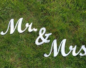 MR & MRS Metal Art Sign