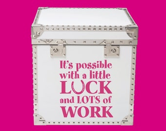 Inspirational Quote_It's possible with a little luck and lots of work