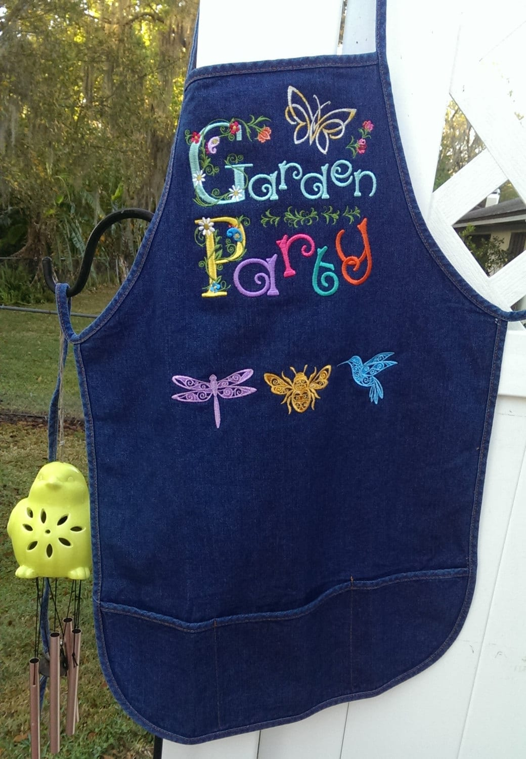 garden party bib apron full aprons 3 pocket apron denim
