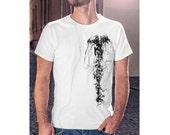 jellyfish shirt, mens gift, men shirt, gift for him, mens tshirt, unisex tshirt, graphic tee, mens clothing, adult tshirt, beach tshirt