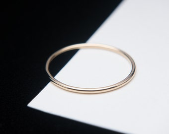 18K Solid Gold Ring, Ultra Thin Gold Ring Band, Gold Ring Spacer, Custom Size, Handmade to Order!