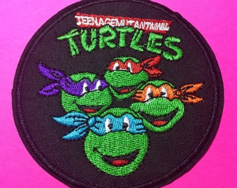 Iron on Sew on patch:  Turtles patch