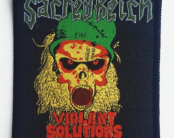 "Sacred Reich ""Violent Solutions"" • 1990 woven patch"
