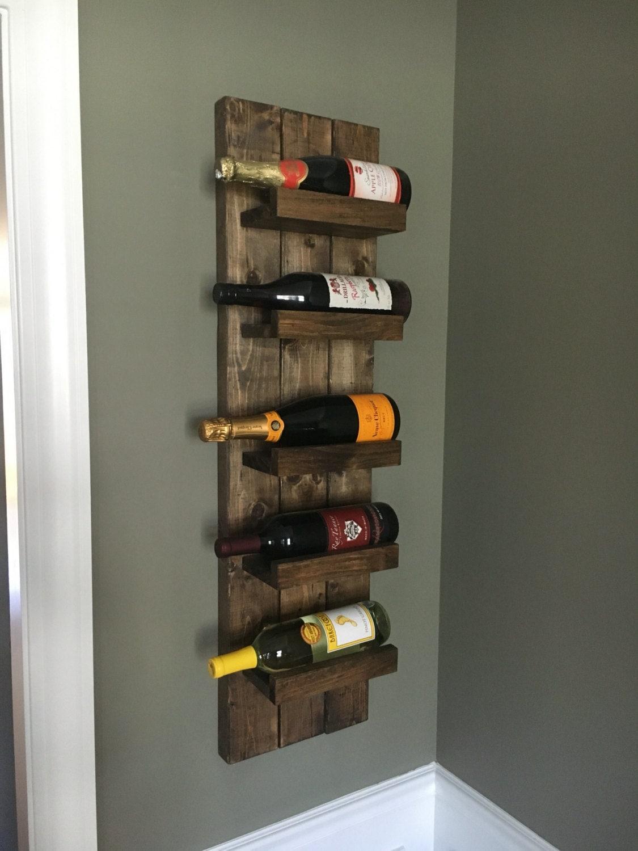 Scrapbook paper rack - Rustic Wine Rack Spice Rack Wall Mounted Wine Bottle Holder Display Shelf Vertical