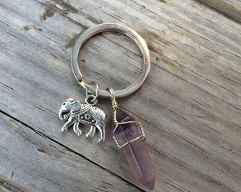 Elephant Crystal Keychain, keychain, elephant keychain, gifts for her, stocking stuffers