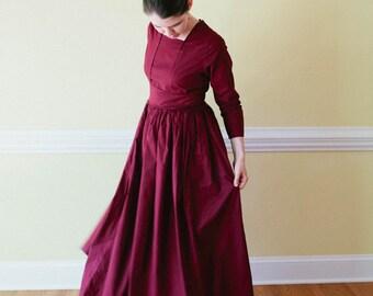 Tea Dress - modest long dress Edwardian dress - Modest Prairie Dress - Made to Measure Modest Dress - nursing access reenactment dre