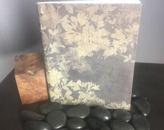 Small Brown Flowered Handmand Journal