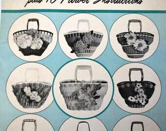 Vintage Art Foam Tote Bag Creations Plus 10 Flower Instructions Bag Patterns 9 Designs