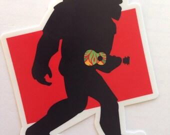 Sasquatch Ukulele sticker vinyl all weather