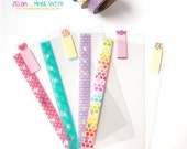 Personal Filofax Clear Dividers Top Tabs  - Cute Candy