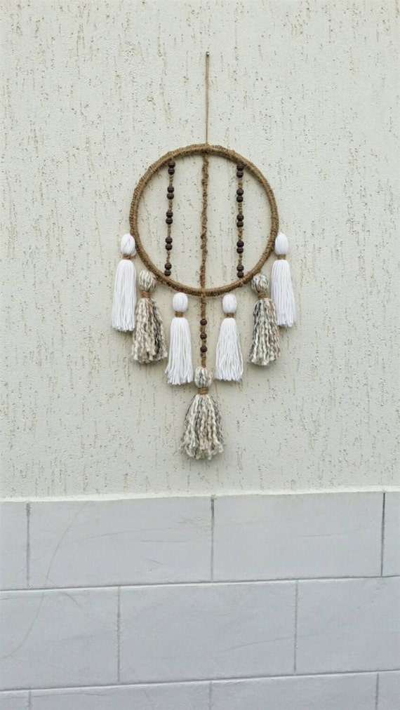 Wall Decor With Rope : Round macrame wall hanging bohemian d?cor tassel decor rope