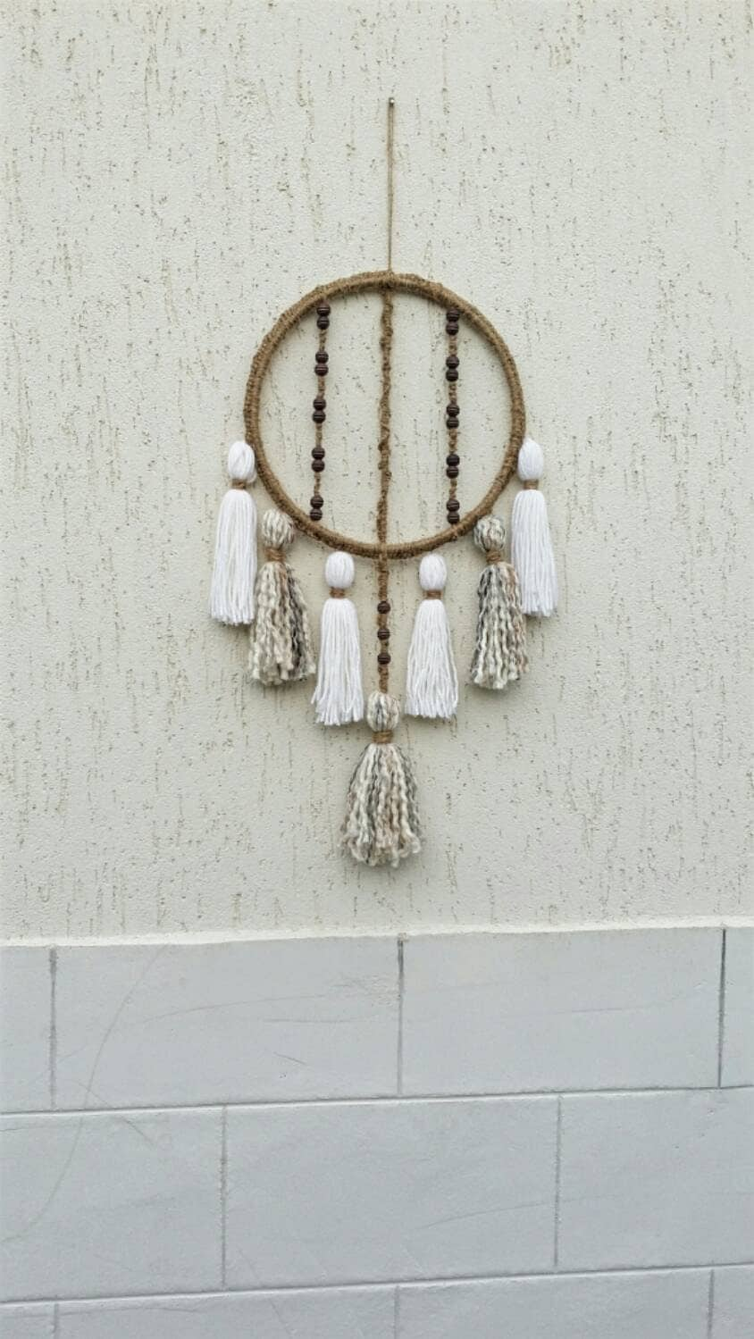 round macrame wall hanging bohemian d cor tassel decor rope. Black Bedroom Furniture Sets. Home Design Ideas