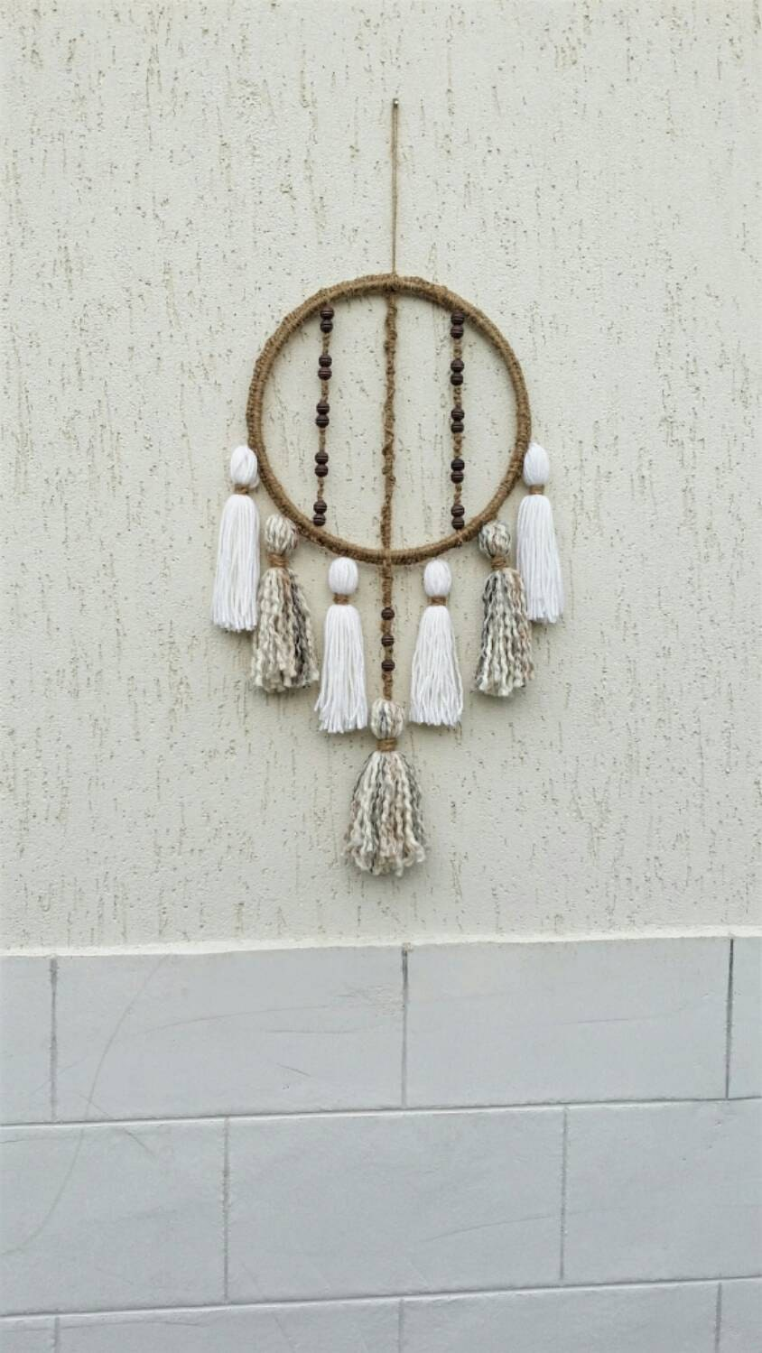 Pier One Round Wall Decor : Round macrame wall hanging bohemian d?cor tassel decor rope