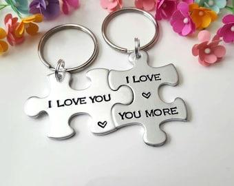 Couple Keychains, Boyfriend Gift, Anniversary Gift For Boyfriend, Boyfriend Girlfriend Gift, Christmas Gift for Boyfriend, Gift for Him