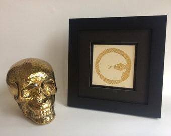 "6"" x 6"" Two Headed Ouroboros Handmade Print"