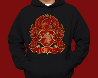 Game of Thrones House Lannister Hoodie - Game of Thrones Shirt - Game of Thrones House Lannister Sigil Game of Thrones Hoodie - Gift