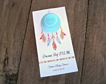 Dreamcatcher- Baby Shower Favor Tags, Baby Sprinkle, Bridal Shower, Birthday Favor Tags- Lip Balm Tags, EOS Lip Balm Tags