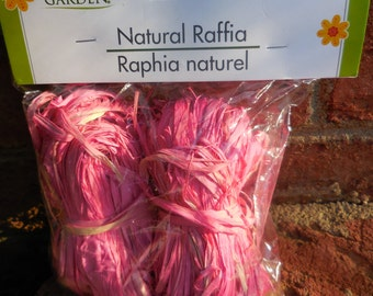 FLORAL GARDEN Natural RAFFIA 2-oz. Bags (Pink) decorating wreaths and floral arrangements Arts Crafts 5B4D E