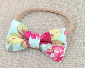 Girls bow headband, nylon bow headband,  bow headband, baby bow headband, girls bow headband, nylon bow headband