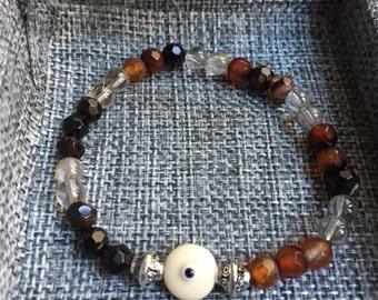 Gemstone bracelet, bracelets for women, handmade jewelry, evil eye, evil eye bracelet, evil eye jewelry, bracelet for mom, holiday, gift