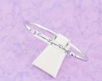 Engraved Bracelet - ID Bracelet - Heirloom - New Mom Gift - Secret Message Bracelet - Cuff Bracelet - Medical Alert Bracelet