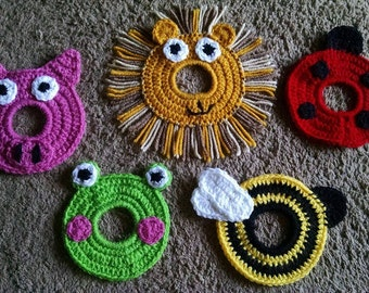 1pc Crochet Camera Buddy of Your Choice With Elastic Center