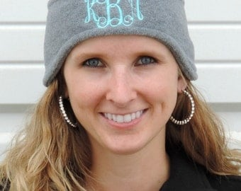 Monogrammed Fleece Headband (Ear Warmers) Embroidered with Monogram