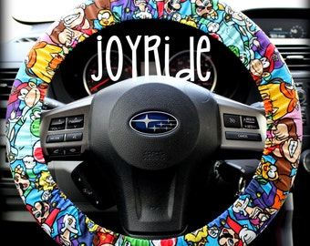 Steering Wheel Cover Nintendo Mario Brothers Donkey Kong- Car Accessorries X Box Heated Gift for Girls Keychain Christmas Favorite Rose