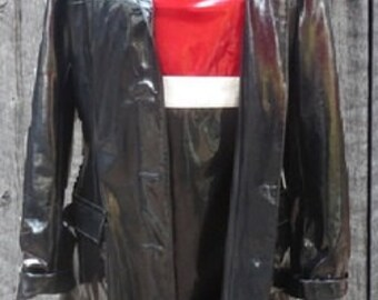 Small  Vintage  1960s style MASLIYAH NUSBAUM MN Faux Patent Leather Dress and Coat DRS068