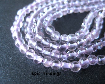 Natural Amethyst Round Smooth 2mm Gemstone Beads, Purple Gemstone Beads, DIY Jewelry Design Craft Supply, Epic Findings