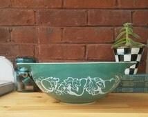 Vintage Pyrex Promitional Green Salad 444 Cinderella Bowl - The Fetus Bowl