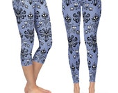 Haunted Mansion Wallpaper  - Capri & Full Length Leggings in XS-3XL - Sports or Fleece Fabric - Gym, Thick Winter  000751