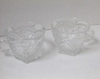 Vintage Set of 2 Glass Teacups